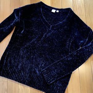 Gap Navy Chenille Sweater - barely worn!